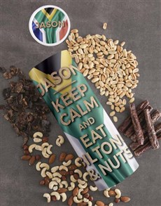 gifts: Personalised Keep Calm Biltong and Nut Tube!