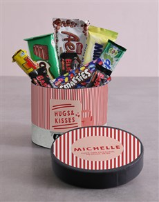 gifts: Personalised Hugs And Kisses Delivery Hat Box !