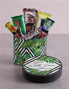 gifts: Personalised Get Well Soon Leafy Hat Box!