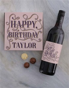 gifts: Personalised Birthday Hooray Gift Set!