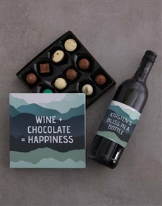 gifts: Personalised Wine And Chocolate Joy Gift Set!