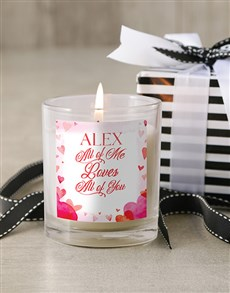 gifts: Personalised All Of Me Candle!