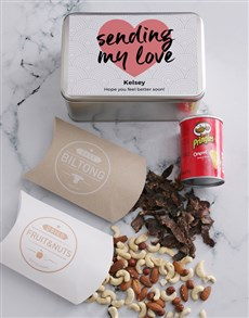 gifts: Personalised Get Well Snack Tin!