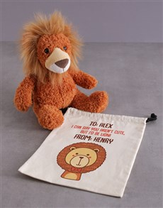 gifts: Personalised Drawstrings And Lion Hamper!