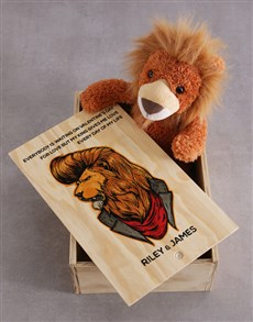 gifts: Personalised Teddy Lion Gift Crate!
