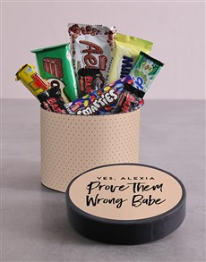 gifts: Personalised Babe Hat Box with Treats!