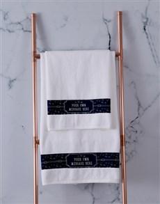 gifts: Personalised Coastal White Towel Set!