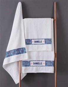 gifts: Personalised Marakesh White Towel Set!