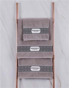 gifts: Personalised Damask Natural Towel Set!