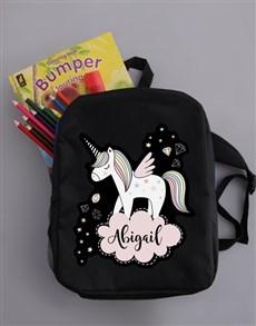 gifts: Personalised Unicorn Kids Backpack!