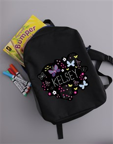 gifts: Personalised Butterfly Girls Backpack!