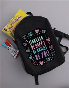 gifts: Personalised Happy Heart Girls Backpack!