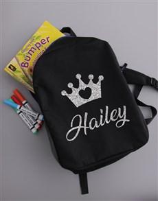 gifts: Personalised Princess Girls Backpack!