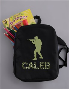 gifts: Personalised Soldier Boys Backpack!