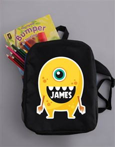 gifts: Personalised Alien Boys Backpack!