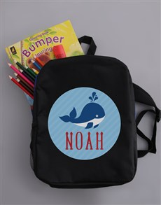 gifts: Personalised Whale Boys Backpack!