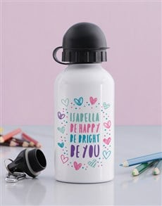 gifts: Personalised Happy Heart Girls Bottle!
