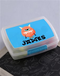 gifts: Personalised Monster Boys Lunch Box!