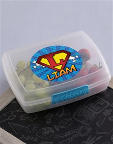 gifts: Personalised Superkids Lunch Box!