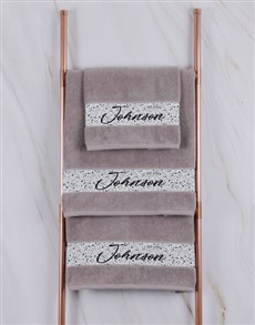 gifts: Personalised Family Stone Towel Set!