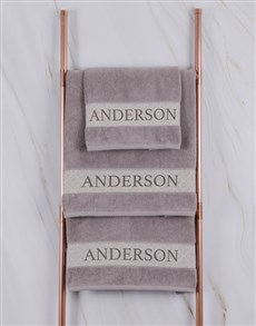 gifts: Personalised Stone Scroll Towel Set!
