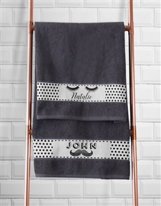 gifts: Personalised Stache and Lash Towel Set!