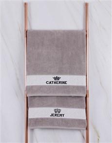 gifts: Personalised Royal Stone Towel Set!