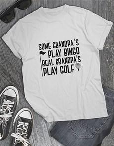 gifts: Personalised Real Grandpas Play Golf Shirt!