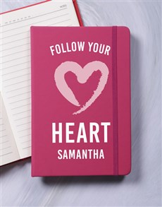 gifts: Personalised Heart A5 Notebook!