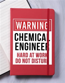 gifts: Personalised Warning A5 Notebook!