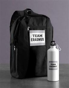 gifts: Personalised Team Backpack & Waterbottle!