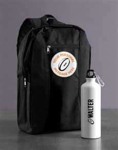 gifts: Personalised Rugby Backpack & Waterbottle!