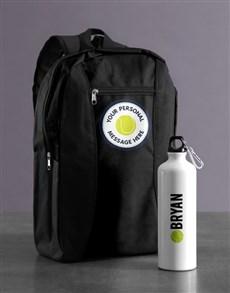gifts: Personalised Tennis Backpack & Waterbottle!