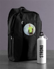 gifts: Personalised Image Backpack & Waterbottle!