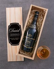 gifts: Personalised KWV Ten Year Brandy Crate!