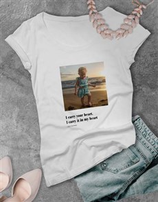 gifts: Personalised Photo Quote Ladies T Shirt!
