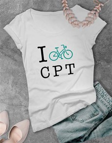 gifts: Personalised Initials Cycling Ladies T Shirt!