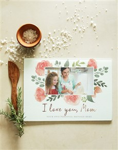gifts: Personalised Love Mom Glass Chopping Board!