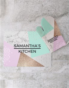 gifts: Personalised Marble Glass Chopping Board!
