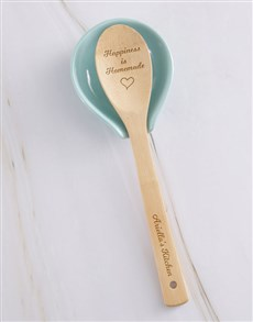 gifts: Personalised Happiness Is Homemade Wooden Spoon!