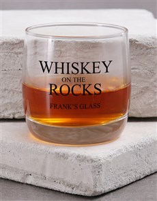 gifts: Personalised Whiskey on the Rock Whiskey Glass!