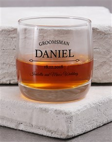 gifts: Personalised Groomsman Whiskey Glass!