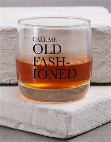 gifts: Personalised Old Fashioned Whiskey Glass!