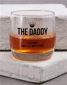 gifts: Personalised The Daddy Whiskey Glass!