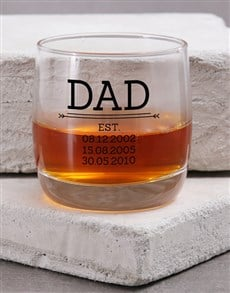 gifts: Personalised Dad Est. Whiskey Glass!