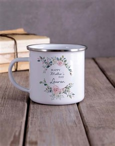 gifts: Personalised Floral Mothers Day Camper Mug!