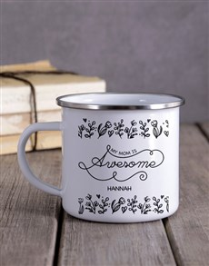 gifts: Personalised Mom Is Awesome Camper Mug!