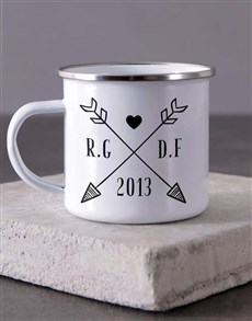 gifts: Personalised Couples Initials Camper Mug!