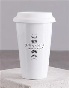 gifts: Personalised Moon Ceramic Travel Mug!