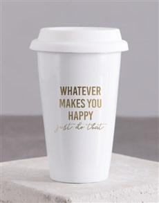 gifts: Personalised Whatever Makes Ceramic Travel Mug!